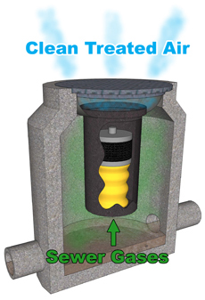 Manhole Odor Eliminator Home